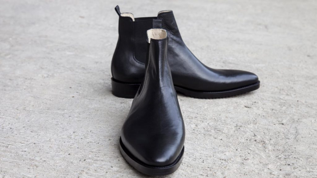Maßschuhe Herren – Stiefeletten, schwarz