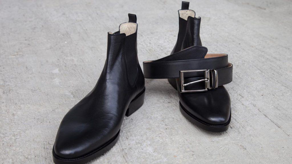 Maßschuhe Herren – Chelsea Boots, Stiefeletten mit Gürtel