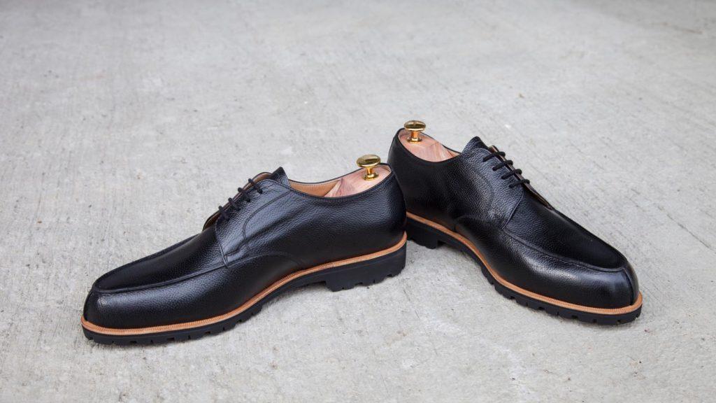 Handgemachte Schuhe für Herren, Norweger, Gummisohle (Vibram), Größe 45/46