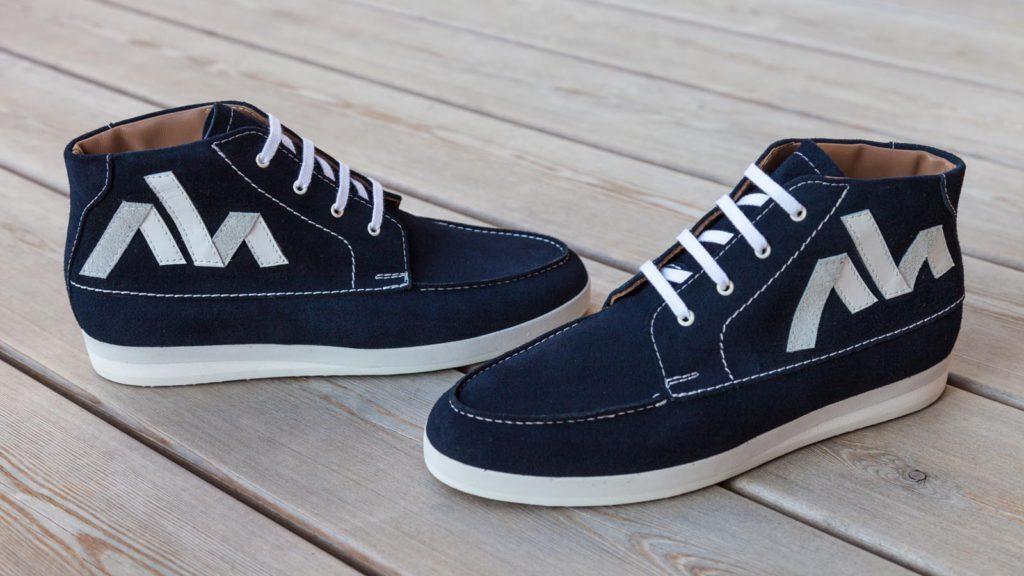 Blaue Sneaker für Herren, handgefertigt