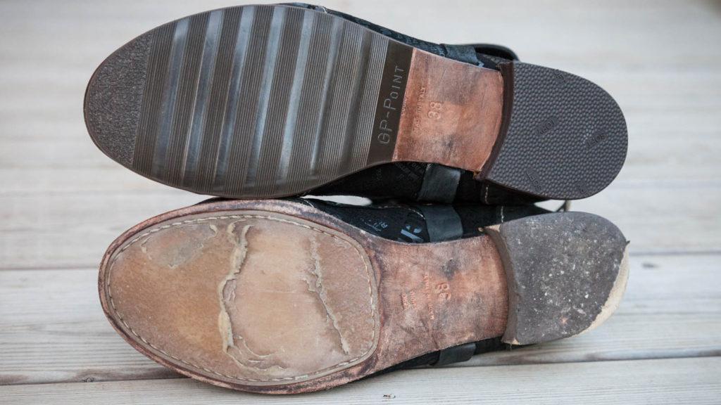 Schuhreparatur Sohle