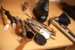 Werkzeug für die Herstellung von Maßschuhen