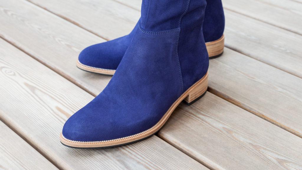 Stiefel für Damen, Maßschuhe, Fußteil