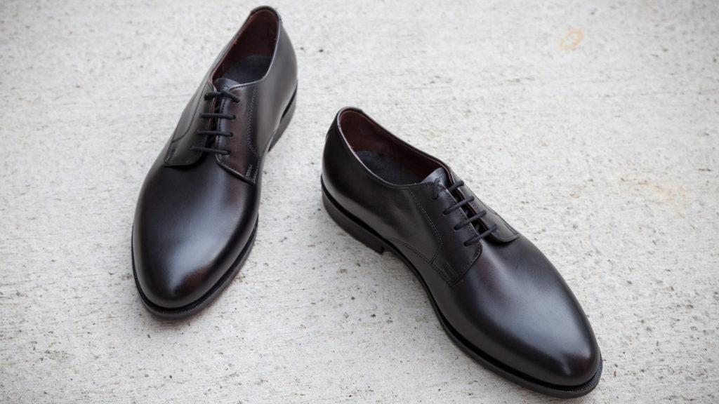 Herrenschuhe Einzelmodell Derby, schwarz, EUR 450,– Abb. Größe 41