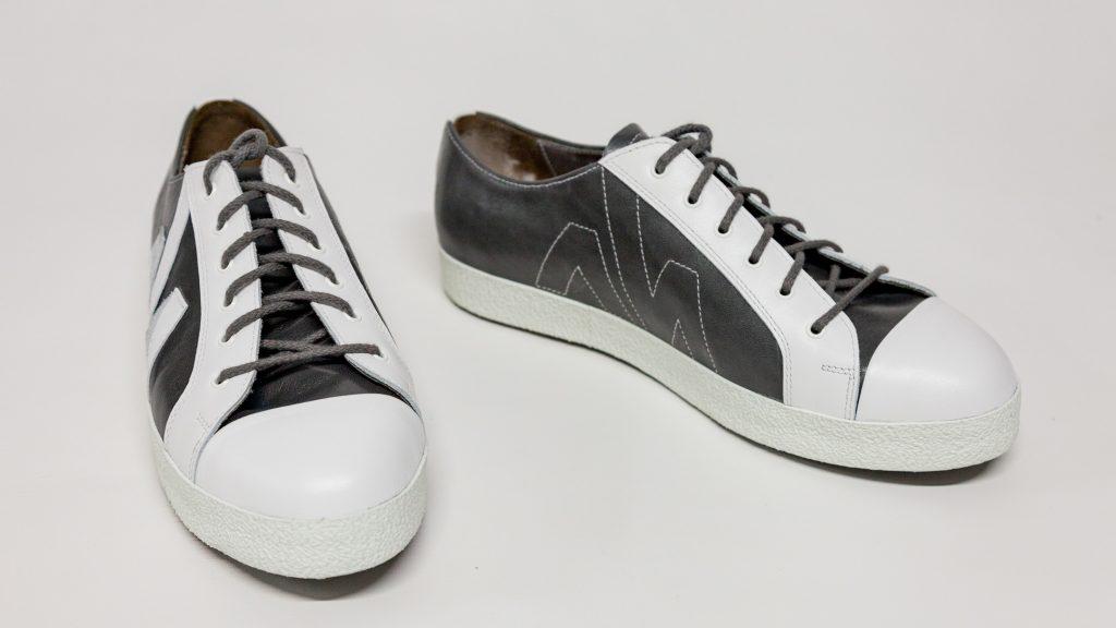 Sneaker Herren mit Logo, Maßschuhe, 2-färbig