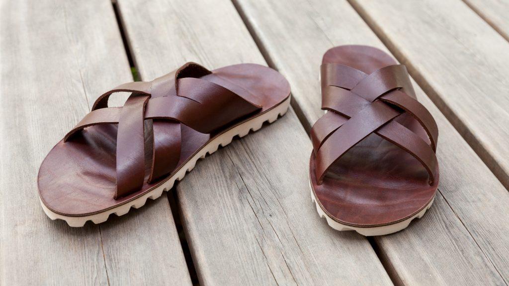 Braune Sandalen, Herren, handgemacht