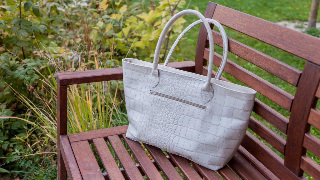 Weiße Handtasche Damen, Shopper