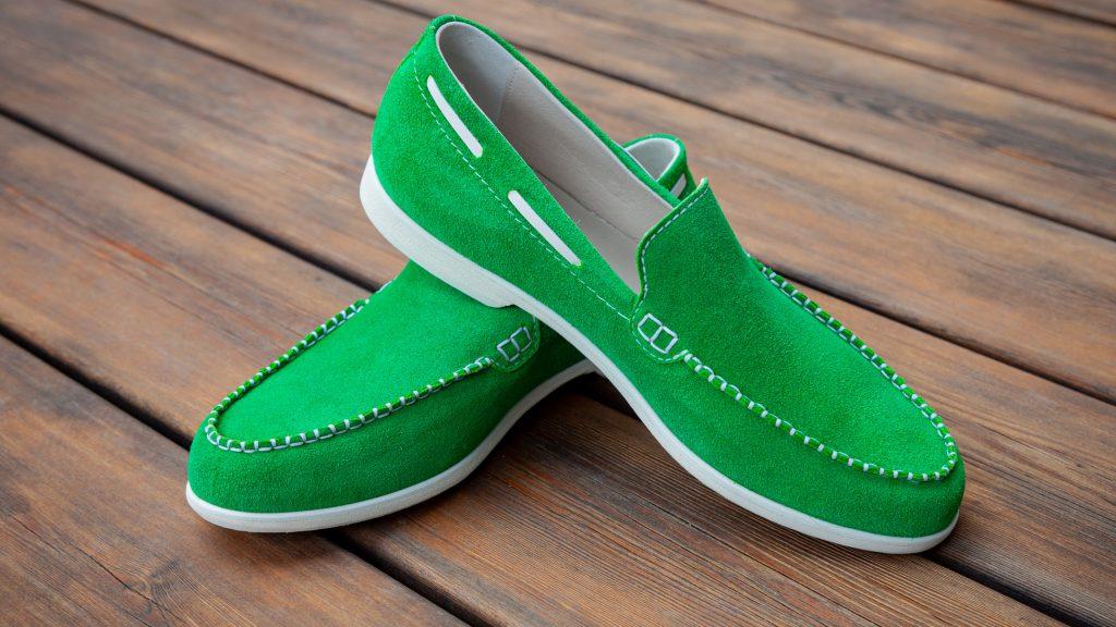 grüne Mokassins Herren
